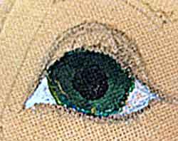 рисуем кукле глаза