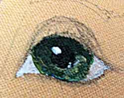 Рисуем блики на кукольных глазах