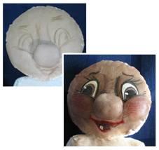 рисуем лицо куклы
