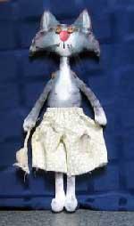 текстильная кукла Кот-забияка